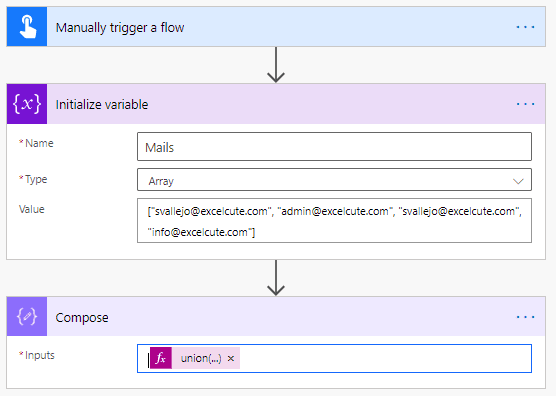 Power Automate remover duplicados 3