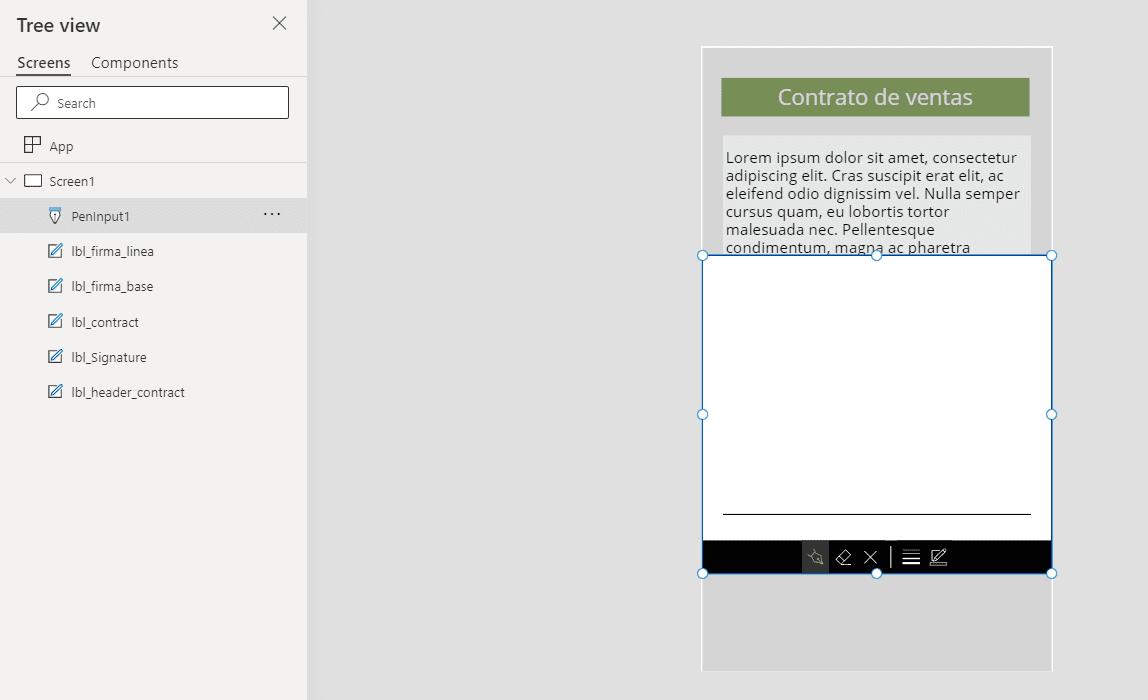 Power Apps firma pen input 11
