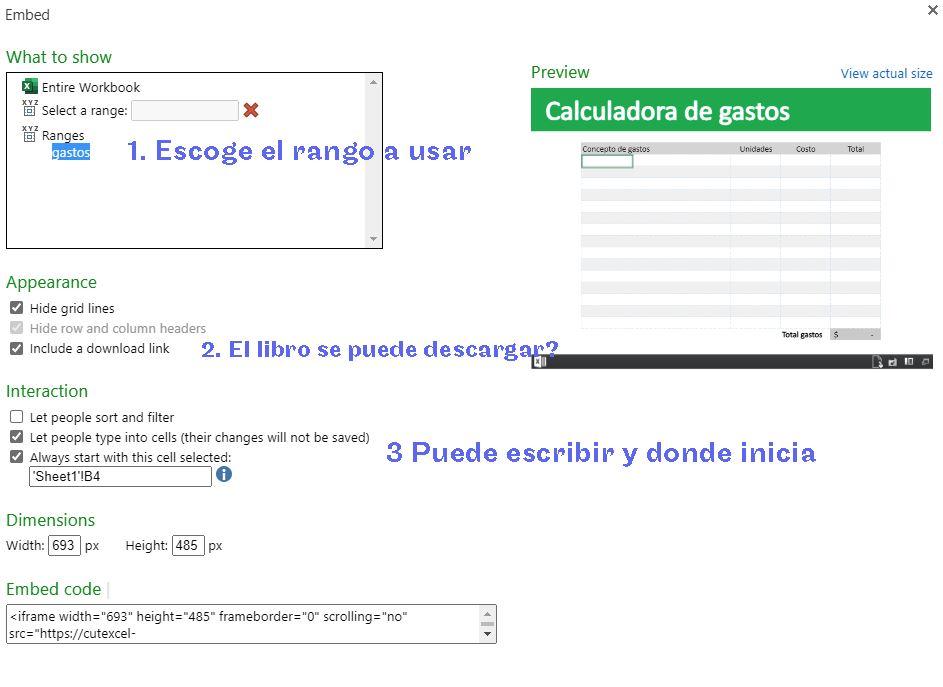Excel 365: Compartir tu libro de Excel en una pagina web
