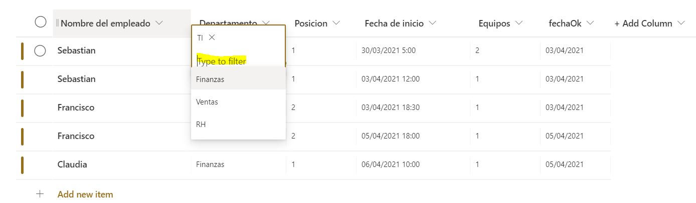 Power Apps: Utiliza Patch para actualizar columnas de búsqueda